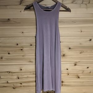 American Eagle Soft and Sexy Purple Lace Up Dress
